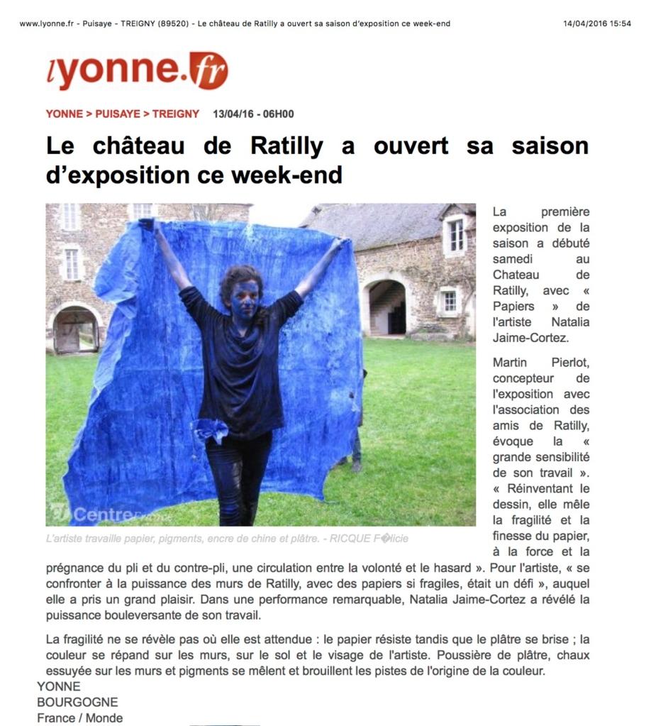 www.lyonne.fr - Puisaye - TREIGNY (89520) - Le château de Ratil